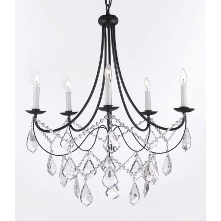Versailles Collection Wrought Iron Chandelier Gallery T40 627 Black Versailles 5 Light 1 Tier Wrought