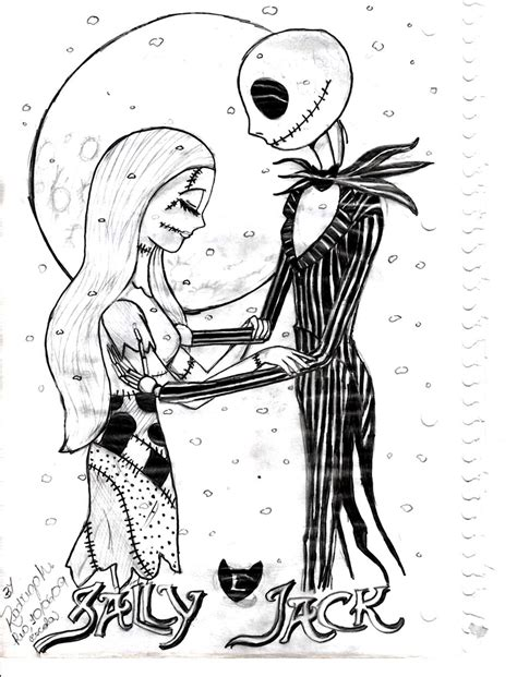 nightmare before christmas coloring pages christmas