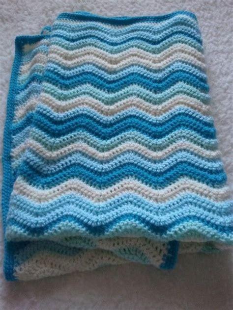 wave pattern in crochet wave baby blanket ripple waves baby blanket crochet