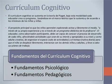 Modelo Curricular Integral Definicion Curr 237 Culum Cognitivo