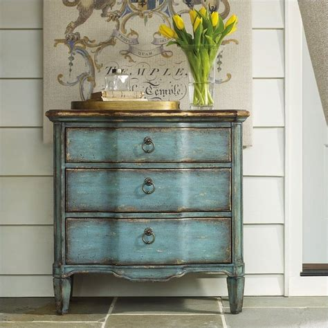 hooker furniture living room accents 3 drawer antique hooker furniture seven seas three drawer turquoise accent