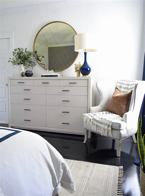 master bedroom dresser decor transitional modern with a pinch of boho bedroom reveal
