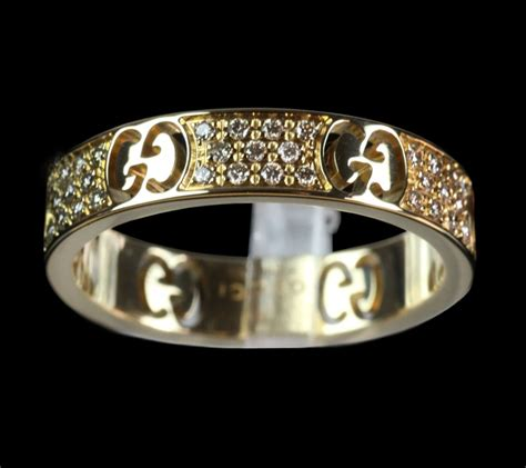 gucci icon stardust 18ct yellow gold ring j058