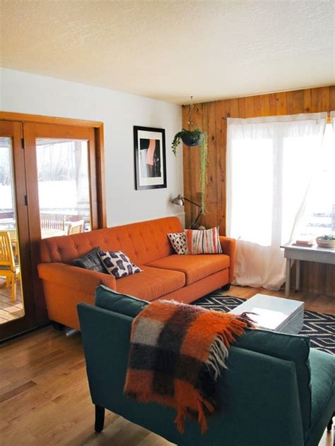 orange sofa living room ideas best 25 orange sofa ideas on orange sofa