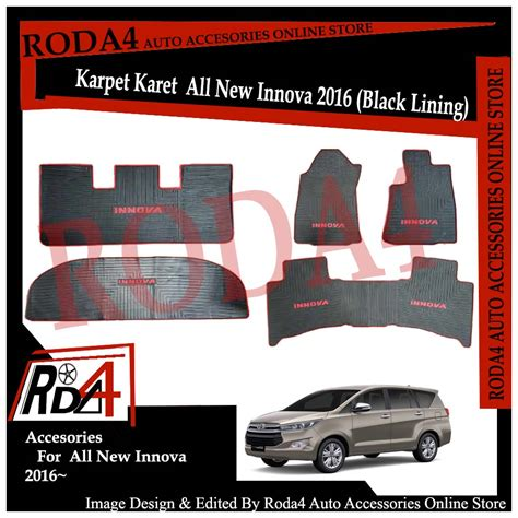 Karpet Mobil All New 2018 jual karpet karet mobil all new innova 2016 black lining