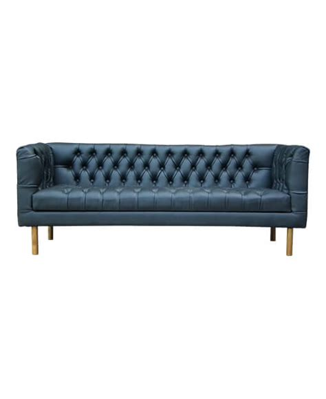 synthetic leather sofa singapore kagen teak synthetic leather chesterfield sofa black