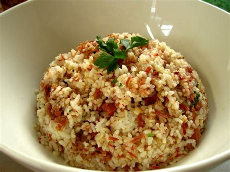 cook  bake fried rice  corned beef