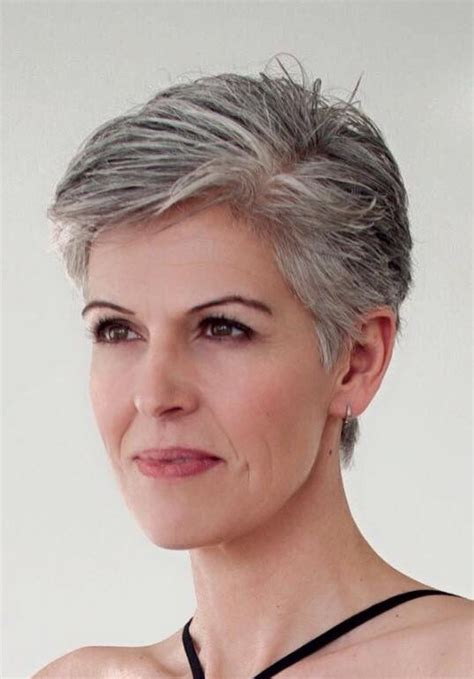 pixie haircuts gray hair pin by leila guahiba on grey hair pinterest natural