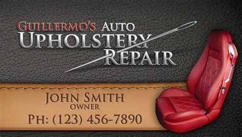 Upholstery Business Upholstery Repair Business Card Design Graphic Design