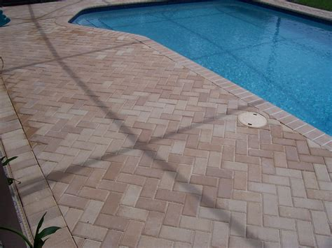 remodel your pool deck using thin overlay pavers build garden bench old castle pavers cookwithalocal home