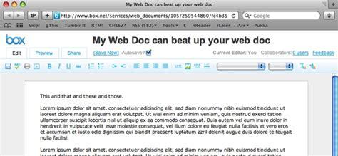 google design document box net s web documents no google docs or zoho killer