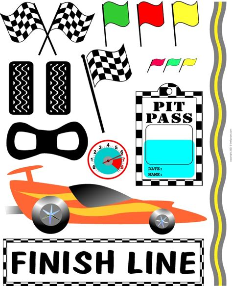 free printable race numbers race car clipart for e s birthday party inspiration