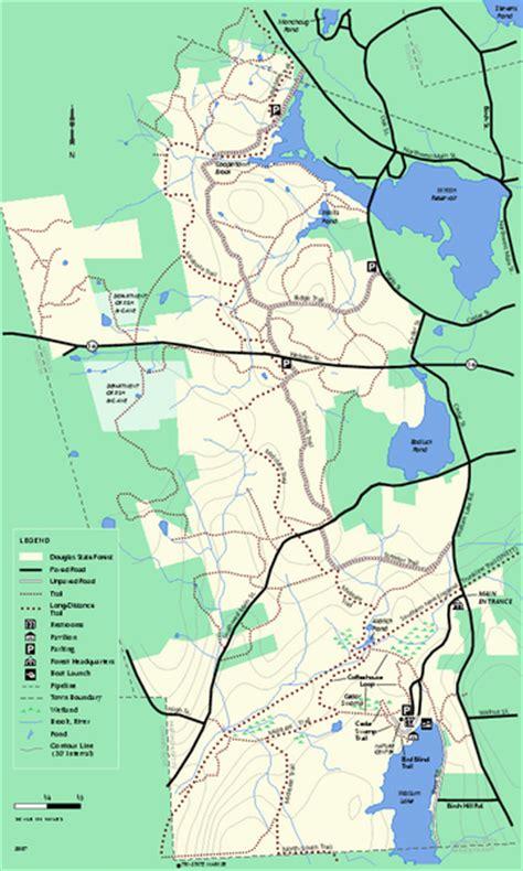 douglas map douglas state forest trail map douglas ma mappery