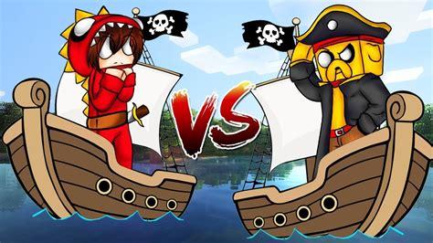 imagenes de barcos minecraft minecraft barco de mikecrack vs barco de raptorgamer