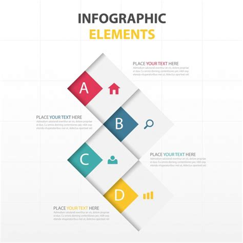 design elements tutorial four options for infographics with geometric shapes vector
