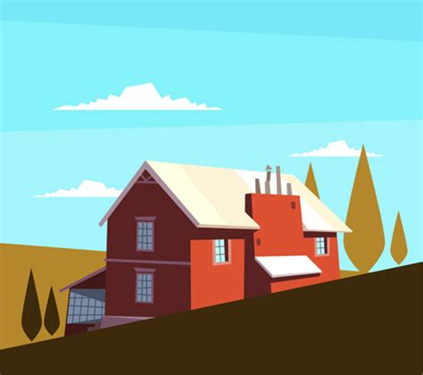 simple house drawing  vector