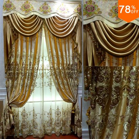 egyptian curtains aliexpress com buy 2016 golden hollow out flowers