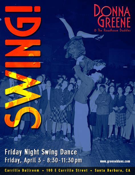 swing dance santa barbara donna greene the roadhouse daddies calendar vintage
