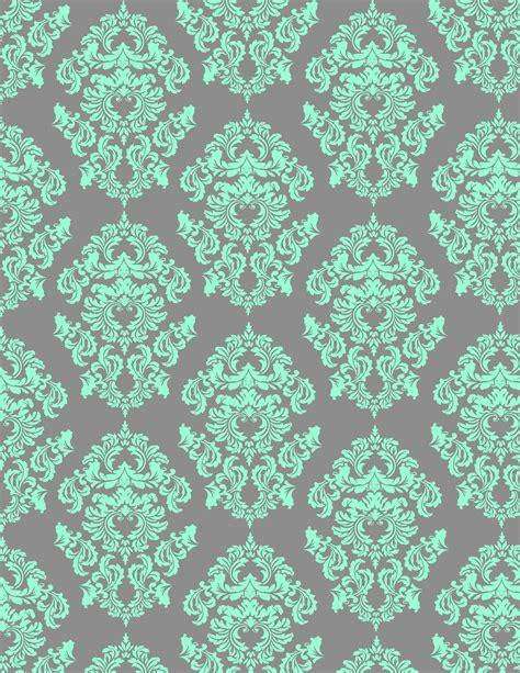 pattern aqua blue aqua damask looks great on gray background aqua and