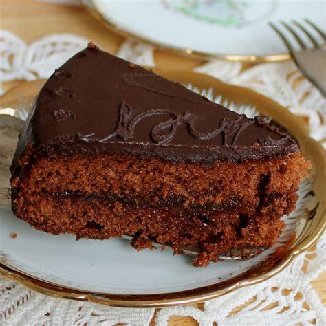 cucina con torte torta sacher ricetta originale inventaricette in