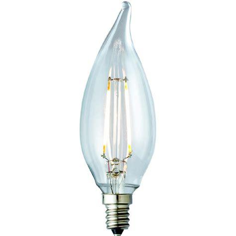 outdoor candelabra led light bulbs archipelago 25w equivalent warm white ca10 clear lens