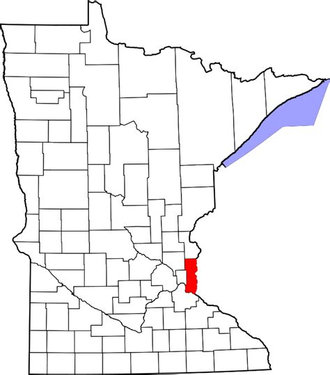 Washington County Mn Property Records File Map Of Minnesota Highlighting Washington County Svg