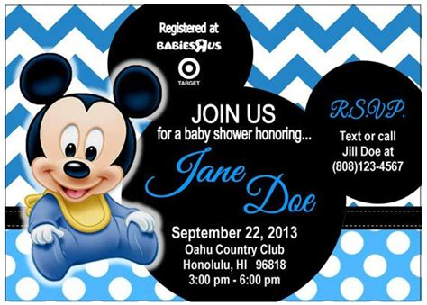 baby mickey mouse invitation template 17 best images about baby shower mickey on
