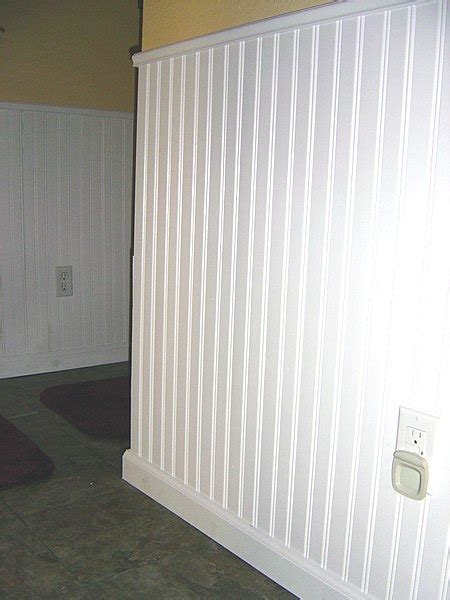 How To Put Up Wainscoting Panels by How To Install Beadboard Diy Pj Fitzpatrick