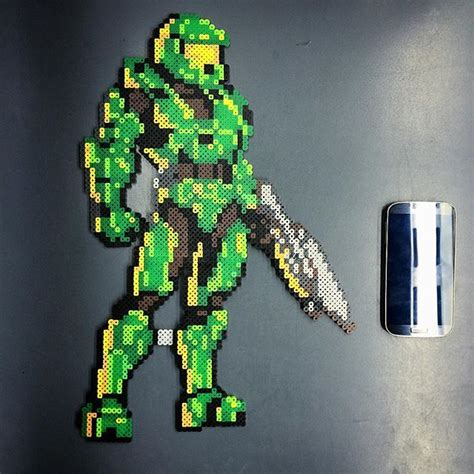 bead master 23 best halo perler pixel images on