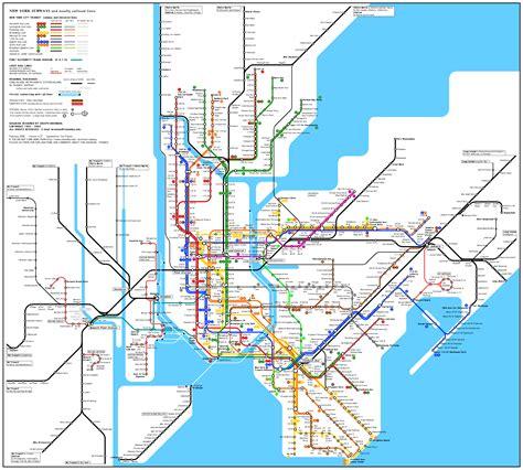 Map New York Subway by Usa New York San Fransisco Train Rail Maps