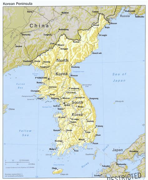 peninsula map asian regional maps and korean peninsula maps