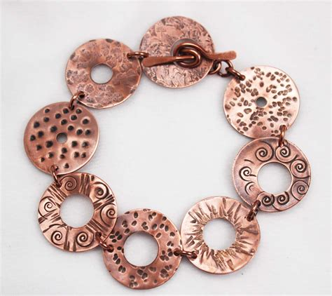 how to make brass jewelry how to make a washer bracelet free tutorial