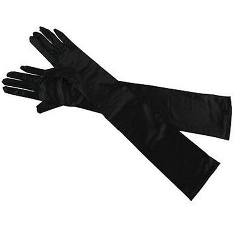 Black And White Gloves black or white burlesque opera gloves charleston