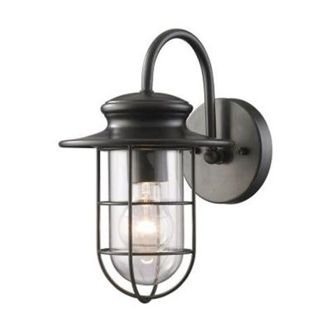 Home Depot Sconces Titan Lighting Portside Outdoor Matte Black Wall Sconce Tn