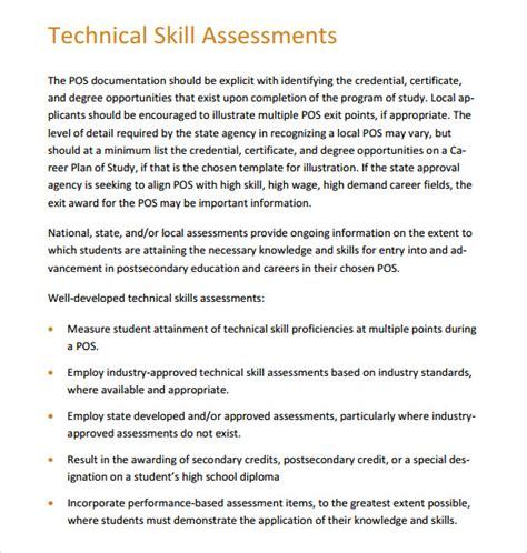 skills assessment template skills assessment 7 free documents in pdf