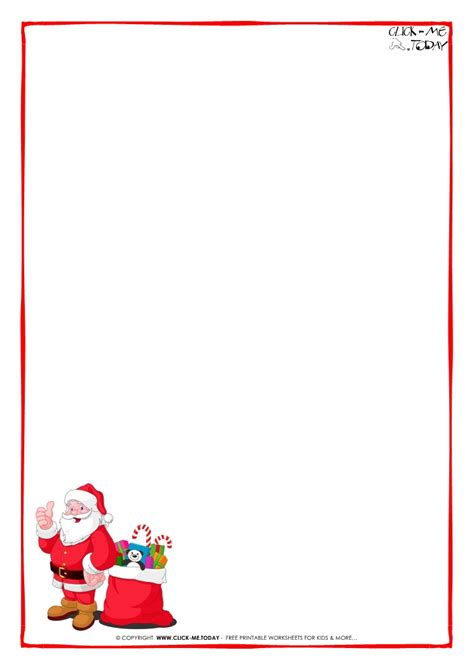 printable paper for santa letter letter to santa claus paper blank template santa presents 7