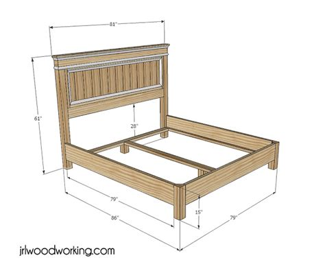 King Size Bed Frame Measurements 187 King Size Bed Frame With Headboard Plans Pdf Joinery Workbench Planspdfwoodplans