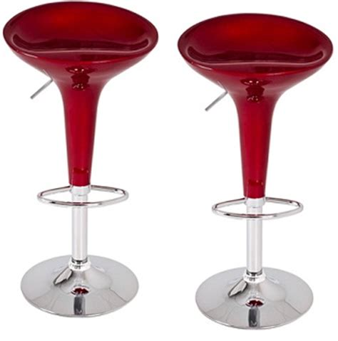 red kitchen bar stools bamoni red gloss kitchen breakfast bar stools height