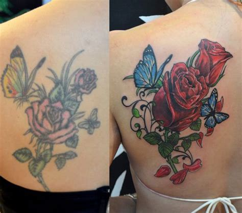 rose tattoo cover up ideas coverup design ideas from tailors