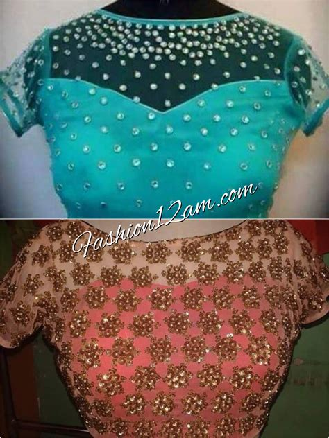 boat neck net blouse boat neck blouse designs fashion12am