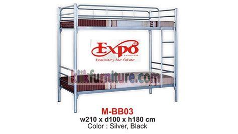 Ranjang Besi Tingkat Ukuran 120x200 mbb 03 ranjang tingkat besi expo harga promo