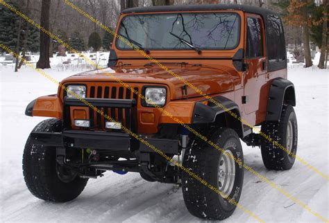 jeep wrangler yj fender flares 6 inches arch extensions