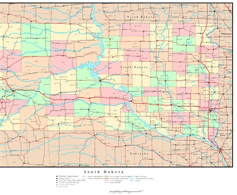 map of sd south dakota political map
