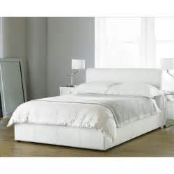 White Leather Bed Frames Uk Home Decorating Pictures White Faux Leather Bed Frame