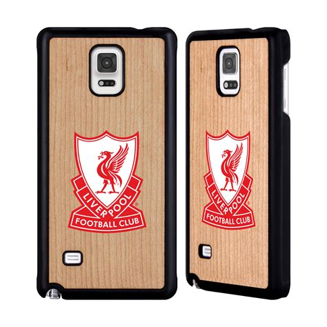 Liverpool Fc Logo Galaxy Note 4 Custom Flip Cover official liverpool fc lfc shield cherry wooden back
