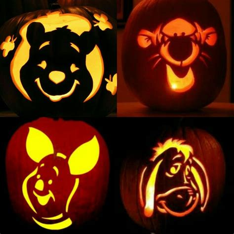 winnie the pooh pumpkin carving templates winnie the pooh tigger piglet and eeyore winnie the