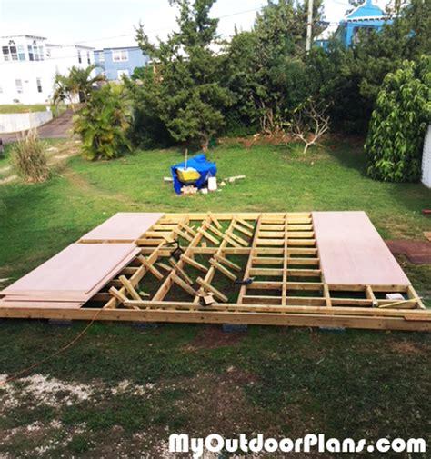 diy  garden deck myoutdoorplans  woodworking