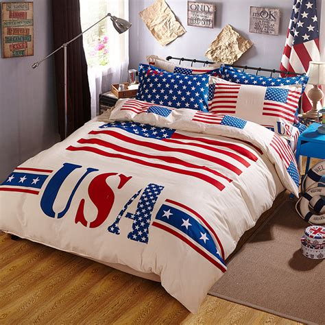 american flag bedding desinger fashion bedding set bed linens girls teen boys