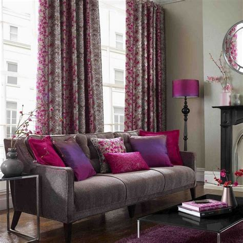 Purple Colour Combination For Living Room - impression of grey and purple colour