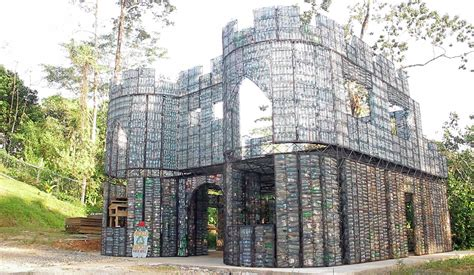built with village made entirely out plastic bottles has been built
